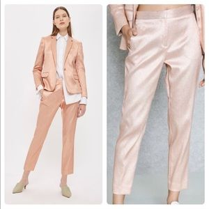 TOPSHOP Metallic Shimmer Suit Trousers